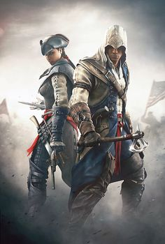 Aveline de Grandpré & Connor Kenway. If anyone is willing to lend me this game and their Vita for a day, I will be more than handy to take good care of it for you ;). throw in golden abyss while your at it