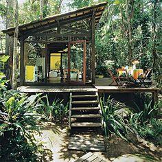 28 fachadas de chalés e casas de madeira - Casa
