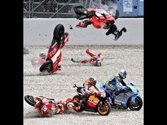 This epic compilation of motorcycle, scooter, and dirt bike crashes or fails.  Plenty of nice motorcycles to check out during the video.   From Dual sport, motards, Yamaha, Ducati, Suzuki, Harley, Victory, Kawasaki, KTM, and Honda racing bikes or crotch rockets.   Funny accidents happen too during a wheelie crash.  Accidents can and do happen. There...