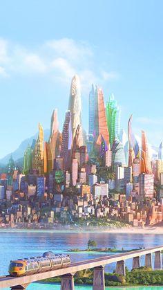 Disney iPhone Wallpaper: Zootopia City