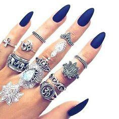 Nail art #accessories #blue nailpaint