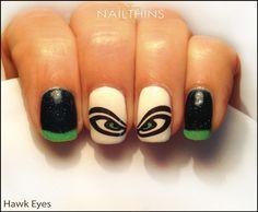 Hawk Eye NAILTHINS Nail Decal Seahawks Nail Art