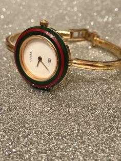 95c4852752c Vintage Ladies Gucci Watch Gold W Red   Green
