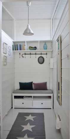 Some paint, nails and a little IKEA can take you anywhere. - Oppgradering med litt maling og tv-benk fra IKEA.