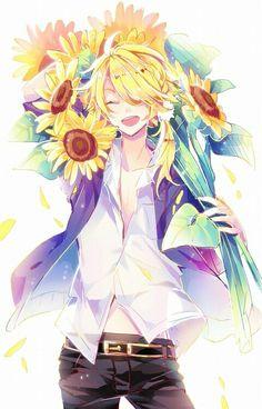 shishiou looks good with sunflowers Touken Ranbu, Vocaloid, All Anime, Manga Anime, Anime Art, Avatar Forum, Aoki Lapis, Anime Flower, Estilo Anime