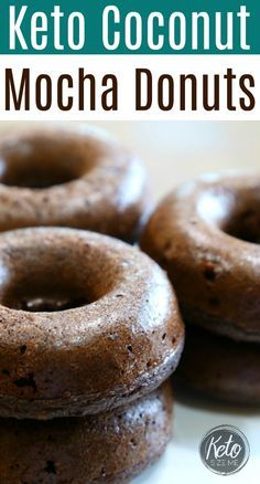 Keto Coconut Mocha Donuts Recipe LCHF. Keto donuts are great for keto breakfast or keto snacks! Try them today, they are SO easy to make.