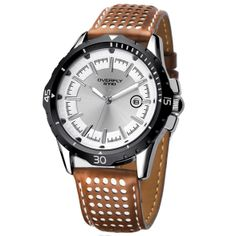 Fasion EYKI Overfly 30m Waterproof Quartz Watches for Men / Men's Brand Leather Strap Watch High Quality 2013 New Hours EOV8540G