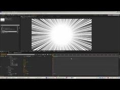 After Effects tutorial シェイプレイヤーを使ってマンガチックな集中線を作る方法 - YouTube