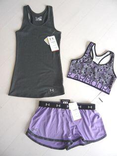 New Under Armour Womens Shorts DFO Nutech Tank Top Bra Bra Top Set Size L | eBay Loooooooveee!!!