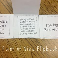 Freebie!!  Quick and Easy Point of View Flip book!!