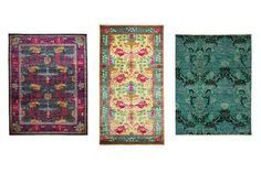 Assorted rugs from Solo's collection