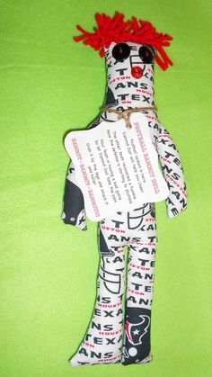 Were you needing this Dammit Doll for the game this weekend? Houston Texans Football Dammit Doll by tobeesgifts on Etsy, $18.95