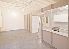 Partitions create rooms within rooms in Barcelona apartments