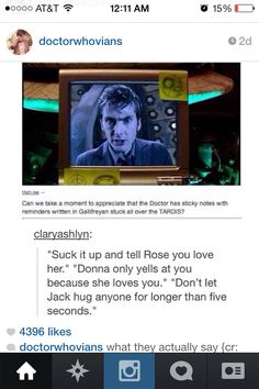 Gallifreyan sticky notes the Doctor writes to himself