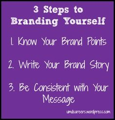 3 Steps to Branding Yourself