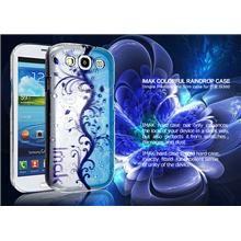 IMAK PC Raindrop Series Blue Wave Case Skin For Samsung Galaxy S3 at Elewarehouse.com