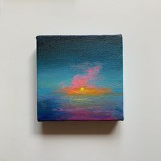 Buy Miniature Landscape painting, Acrylic painting by Amita Dand on Artfinder. Discover thousands of other original paintings, prints, sculptures and photography from independent artists. Small Canvas Paintings, Small Canvas Art, Mini Canvas Art, Mini Paintings, Landscape Paintings, Small Art, Indian Paintings, Abstract Paintings, Original Paintings