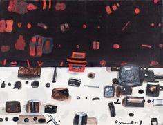 """JAN TARASIN (1926 - 2009)  PRZEDMIOTY POLICZONE, 1977   olej, płótno / 51 x 66 cm  sygn. p.d.: JTarasin 77  opisany na odwrocie: Jan Tarasin 77 """"PRZEDMIOTY POLICZONE"""""""