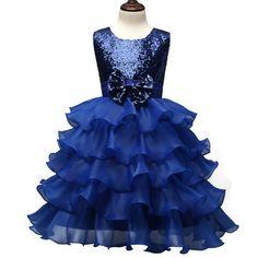 7aaa6294b Aliexpress.com: Comprar Aini Bebé Niñas Vestido de Fiesta Para La Boda  Ceremonias muchacha