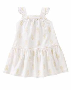 Gymboree Girls 6-12M 18-24M 2T 3T 4T 5T White Metallic Mini Pineapple Dress NWT  #Gymboree #DressyEveryday