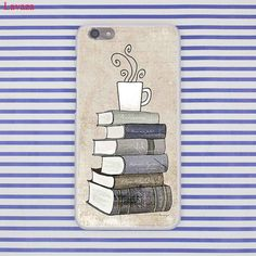 Lavaza Books And Coffee Inverted Mck Print Hard Case Cover for Huawei P8 P9 P10 Lite Plus G7 & Honor 8 Lite 6 7 4C 4X