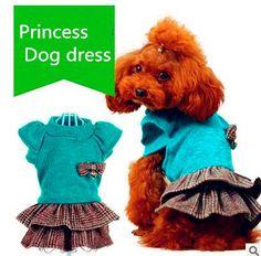 Spring Summer 2016 Cute Jean Puppy Dress Blue Pet Dog Dress for Dogs Puppy Skirt Princess Dog Clothes
