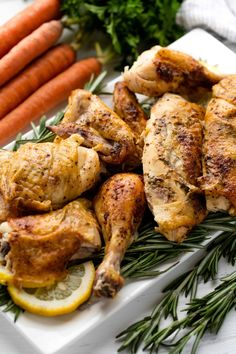 Learn how to Roast Chicken perfectly whether you are using a roasting pan, slow cooker, or just need to use a regular pan you have on hand. It's so easy! Whole Baked Chicken, Pre Cooked Chicken, Baked Chicken Recipes, Roast Chicken, Chicken Menu, Main Dishes, Dinner Recipes, Holiday Recipes, Cooking Recipes