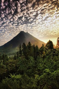 The Dawn of the Volcano . Costa Rica // For premium canvas prints & posters check us out at www.palaceprints.com