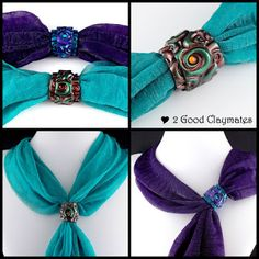 How to Make a Roll Up Scarf Slide or Ring in Polymer Clay | 2 Good Claymates | Bloglovin'