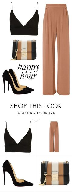 """Happy"" by meli3108 ❤ liked on Polyvore featuring Topshop, Fleur du Mal, Christian Louboutin and MICHAEL Michael Kors"