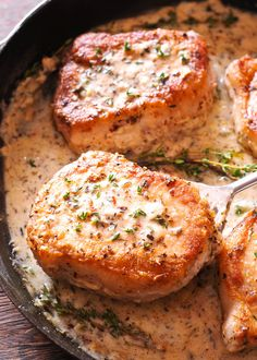Creamy Boneless Pork Chops