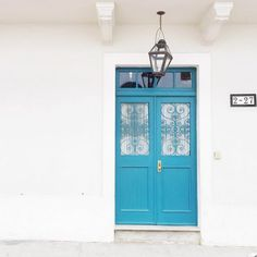 A brightly colored door in Panama