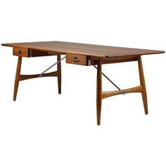 Desk Designed by Hans Wegner for Johannes Hansen, Denmark, 1952 | 1stdibs.com