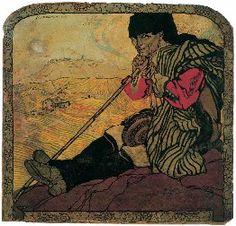 IL GUARDIANO DELLA VIGNA, 1913 Soggetto originale per il manifesto della Ditta vinicola Zedda-Piras, Mario Delitala