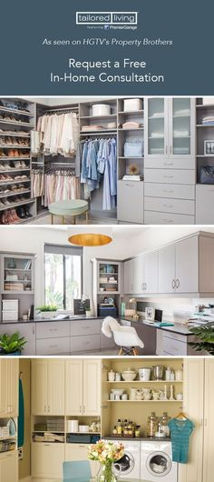 Get a fresh look this spring with our custom home organization solutions!