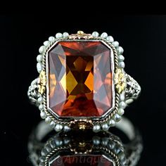 Oh my goodness this one is so beautiful. Vintage Madeira Citrine Ring
