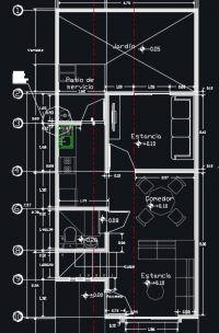 Vivienda de 2 pisos con 3 dormitorios y un total de 71m2 for Casa minimalista 90m2
