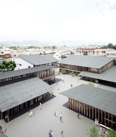 kengo kuma plans louvered tomioka city hall in central japan