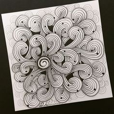 Zentangle drawing, great for a welcome page! Doodle Drawing, Tangle Doodle, Tangle Art, Zentangle Drawings, Doodles Zentangles, Zen Doodle, Doodle Art, Doodle Patterns, Zentangle Patterns