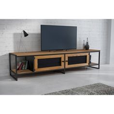Endüstriyel Loft Tasarım Masif Ahşap Tv Ünitesi Sehpa - n11.com