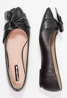 856e90809f1 Lost Ink ESME HALF BOW POINTED FLAT - Ballerina s - black - Zalando.be