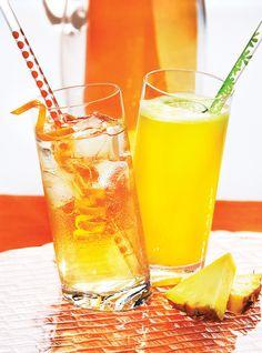 Limonade à l'ananas et au citron vert Recettes | Ricardo  Bon mais attention à ne pas trop ajouter de sucre.