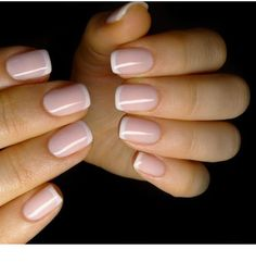 Short french nails, french tip nails, short nails, nail french, sns Pink French Manicure, White Tip Nails, French Pedicure, French Acrylic Nails, Nude Nails, Manicure And Pedicure, Pink Nails, My Nails, Pedicure Ideas
