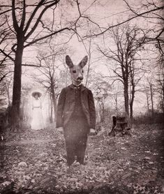 giant rabbit and spirit photography - this pic's got it all...love it...