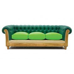sofá Chesterfield Essence verde