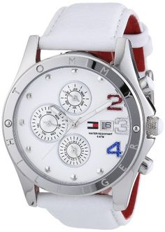 Tommy Hilfiger 1780931 – Reloj de mujer de cuarzo, correa de piel color blanco | Your #1 Source for Watches and Accessories