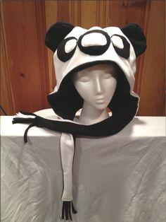 A personal favorite from my Etsy shop https://www.etsy.com/listing/150358627/fleece-panda-hat-us-pat