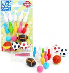 Iwako Japanese Sports Eraser Set (bestseller)