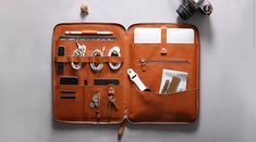 Leather Nomad Organiser for iPad Pro & MacBook Pro Macbook Pro 13, New Macbook Air, Macbook Case, Laptop Case, Leather Cord, Leather Craft, Tan Leather, Bar Fancy, Ipad Pro 12 9