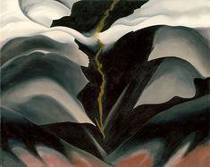 Black Place II, 1944, by Georgia O'Keeffe (American, 1887–1986). Oil on canvas | Metropolitan Museum of Art